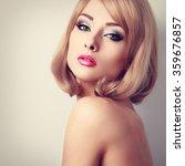 beautiful makeup woman with... | Shutterstock . vector #359676857