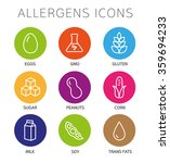 set of food labels   allergens  ... | Shutterstock .eps vector #359694233
