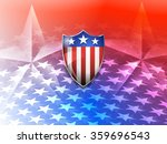 american shield on a stars... | Shutterstock .eps vector #359696543