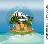 beautiful summer background.... | Shutterstock .eps vector #359709683