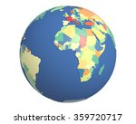 political globe with colored ... | Shutterstock . vector #359720717