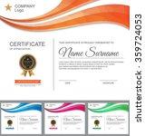 vector certificate template. | Shutterstock .eps vector #359724053
