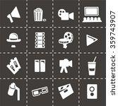 vector cinema icon set | Shutterstock .eps vector #359743907
