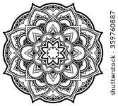 vector henna tattoo mandala.... | Shutterstock .eps vector #359760887