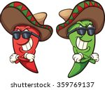 mexican red and green chili... | Shutterstock .eps vector #359769137