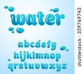 Vector Latin Alphabet  Water...