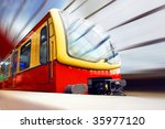 train on railway station | Shutterstock . vector #35977120