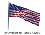 american flag waving | Shutterstock . vector #359772293