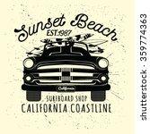 surfer's car illustration  t... | Shutterstock .eps vector #359774363