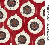 christmas vector pattern.... | Shutterstock .eps vector #359790887