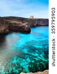 the blue lagoon on comino... | Shutterstock . vector #359795903