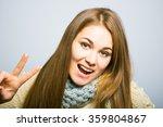 beautiful long haired blond... | Shutterstock . vector #359804867
