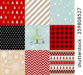 christmas patterns   Shutterstock .eps vector #359808527