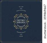 vector calligraphic logo... | Shutterstock .eps vector #359869667
