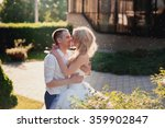 sensual embrace bride and groom ... | Shutterstock . vector #359902847