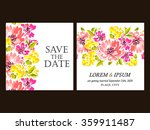 invitation with floral... | Shutterstock . vector #359911487
