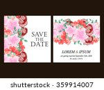 invitation with floral... | Shutterstock . vector #359914007