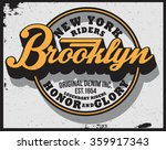 brooklyn riders t shirt graphic | Shutterstock .eps vector #359917343