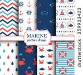 marine seamless patterns for... | Shutterstock .eps vector #359933423