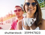having weekend in summer park | Shutterstock . vector #359947823