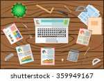 colorful vector business office ... | Shutterstock .eps vector #359949167