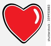 heart shape vector icon eps 10. ... | Shutterstock .eps vector #359950883