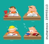 concentrated  distracted  study ...   Shutterstock .eps vector #359955113
