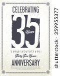 anniversary retro vintage... | Shutterstock .eps vector #359955377