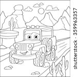 coloring book  cartoon vector... | Shutterstock .eps vector #359963357