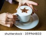 women's hands with a hot cup of ... | Shutterstock . vector #359964833