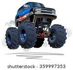 vector cartoon monster truck.... | Shutterstock .eps vector #359997353