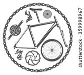 vector illustration bicycle... | Shutterstock .eps vector #359998967