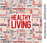 healthy living word cloud...   Shutterstock .eps vector #360016343