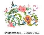 exotic bouquet of lovely... | Shutterstock . vector #360019463