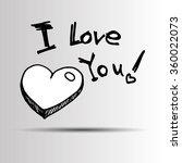 heart vector red day symbol... | Shutterstock .eps vector #360022073