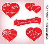 valentine's day sale stickers... | Shutterstock .eps vector #360023147