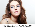 real woman with evening make up ... | Shutterstock . vector #360024677