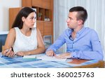 husband and wife quarreling at... | Shutterstock . vector #360025763