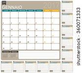 italian planning calendar 2017  ... | Shutterstock .eps vector #360071333