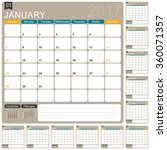 english planning calendar 2017  ... | Shutterstock .eps vector #360071357