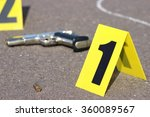 id tents at crime scene after... | Shutterstock . vector #360089567
