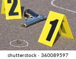 id tents at crime scene after...   Shutterstock . vector #360089597