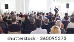audience in the lecture hall. | Shutterstock . vector #360095273