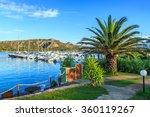 view of a port in porto cervo ... | Shutterstock . vector #360119267
