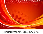 Red Abstract Background. Wavy...
