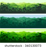 vector horizontal seamless... | Shutterstock .eps vector #360130073