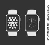 smart watch with icons. vector... | Shutterstock .eps vector #360135107