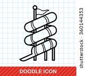 water slide doodle | Shutterstock .eps vector #360144353