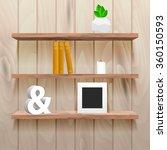 book shelves in room interior... | Shutterstock .eps vector #360150593