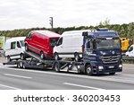 frankfurt germany oct 08  truck ... | Shutterstock . vector #360203453